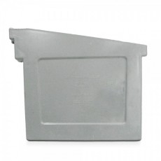 PVC Gutter End Stopper F300 -(pair) - Grey