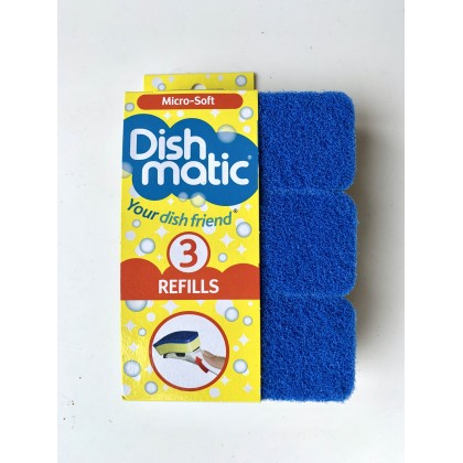 Dishmatic Micro-Soft/Non Scratch Refills _ 3 sponges pack