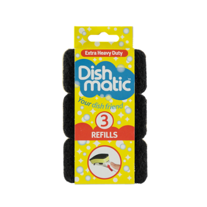 Dishmatic Cleaning Extra Heavy Duty Sponge Refills_3 sponges pack