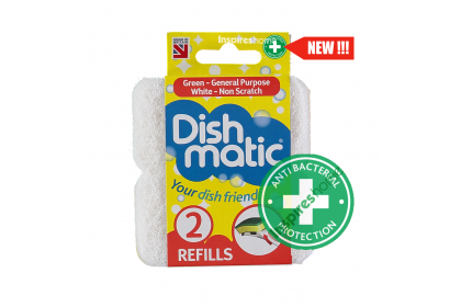 Dishmatic Micro-Soft/Non Scratch Refills -2 sponges pack (Anti-bacterial)